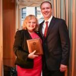 Dr. Michael McGovern reciving award