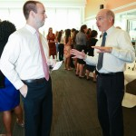 Student and Doctor talking at 3rd Annual Externship Expo