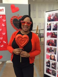 Staff dressed in red for 13th Annual National Wear Red Day for Women