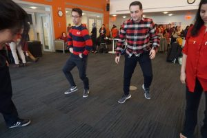 Students dancing at 13th Annual National Wear Red Day for Women