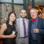 faculty and studnets pose at the Eyeball 2016 party