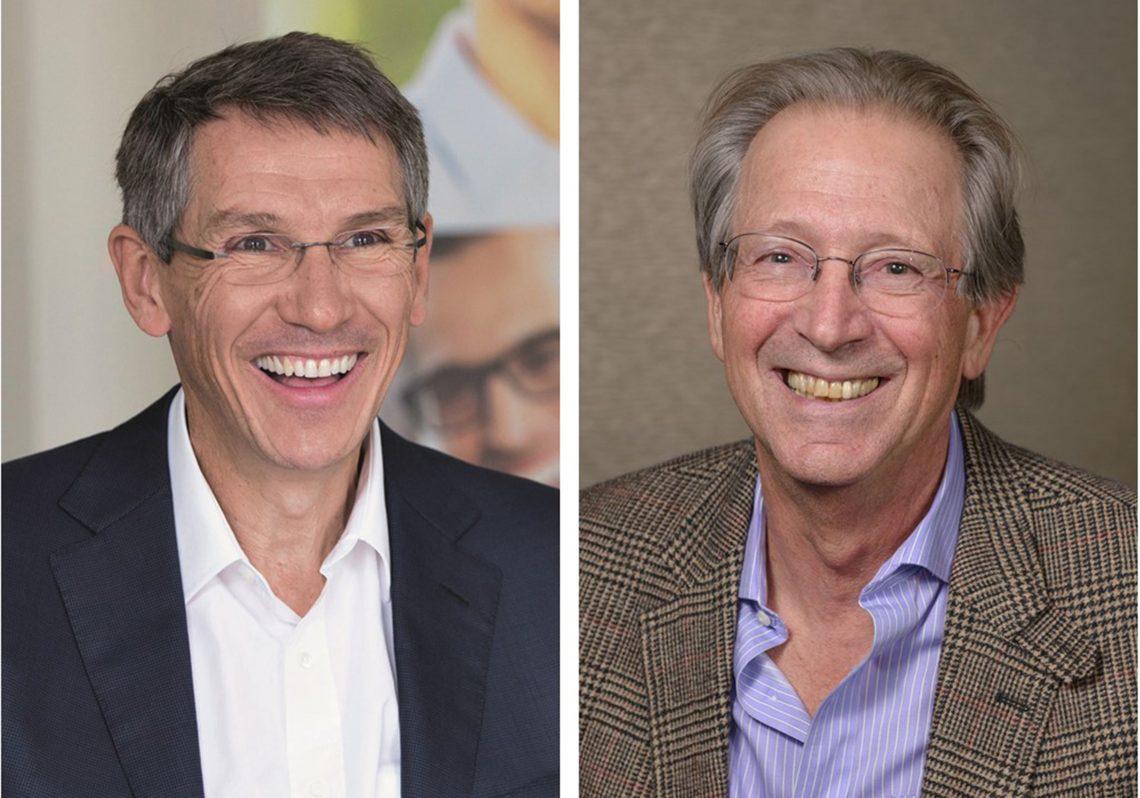 Hubert Sagnières and Dr. Donald Hood