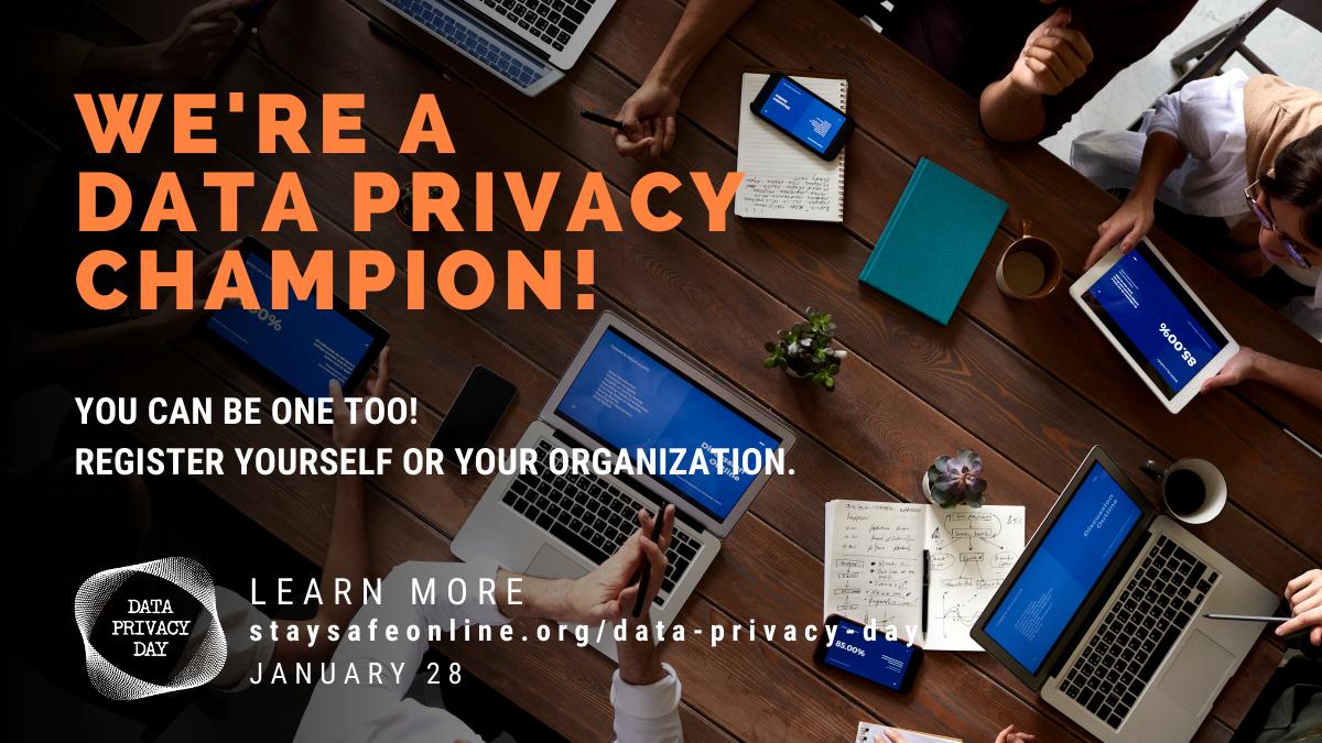 We are a Data Privacy Champion