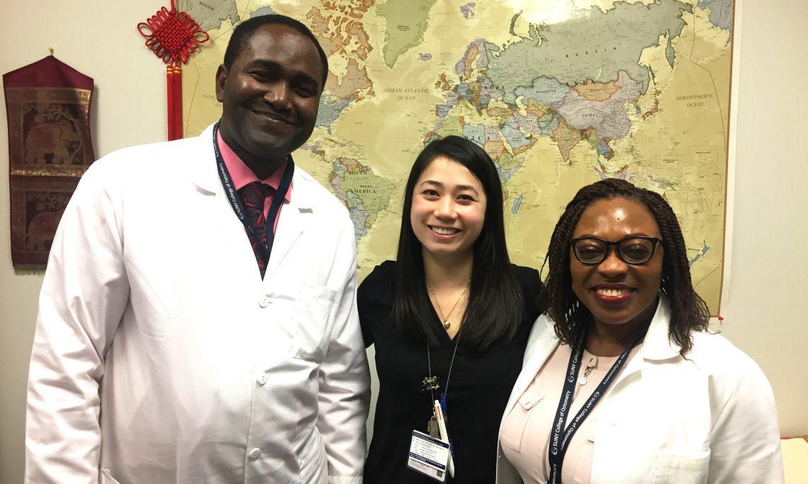 Dr. John Samssedi, Dr. Jennifer Hue and Dr. Areke Ogbonna