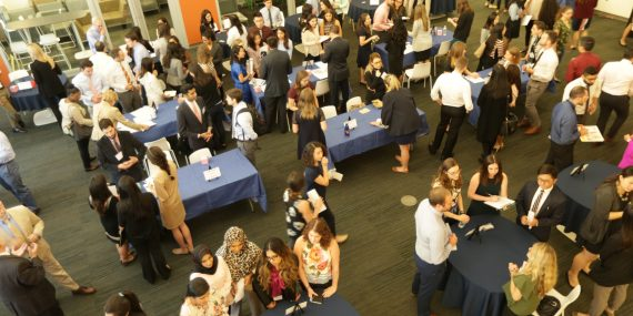 Forty institutions, including community health centers, hospitals, military hospitals, private practices, participated in SUNY Optometry's sixth annual Student Externship Expo.