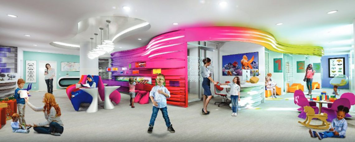 The new Center for Pediatric Eye Care will open in early 2020.